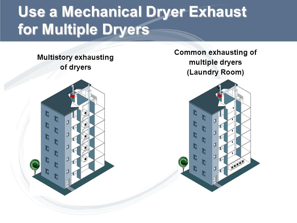 Use a Mechanical Dryer Exhaust for Multiple Dryers