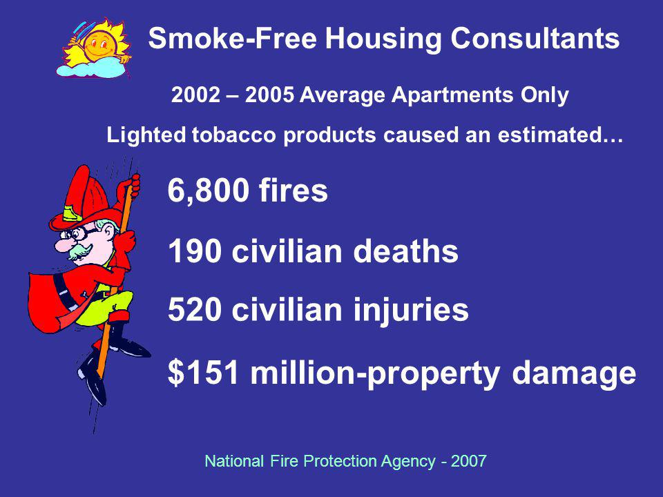 Smoke-Free Housing Consultants 2002 – 2005 Average Apartments Only
