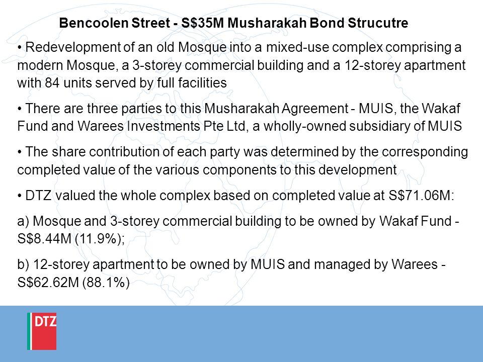 Bencoolen Street - S$35M Musharakah Bond Strucutre