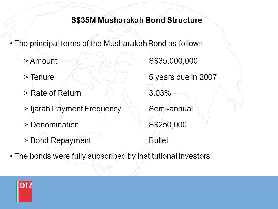 S$35M Musharakah Bond Structure