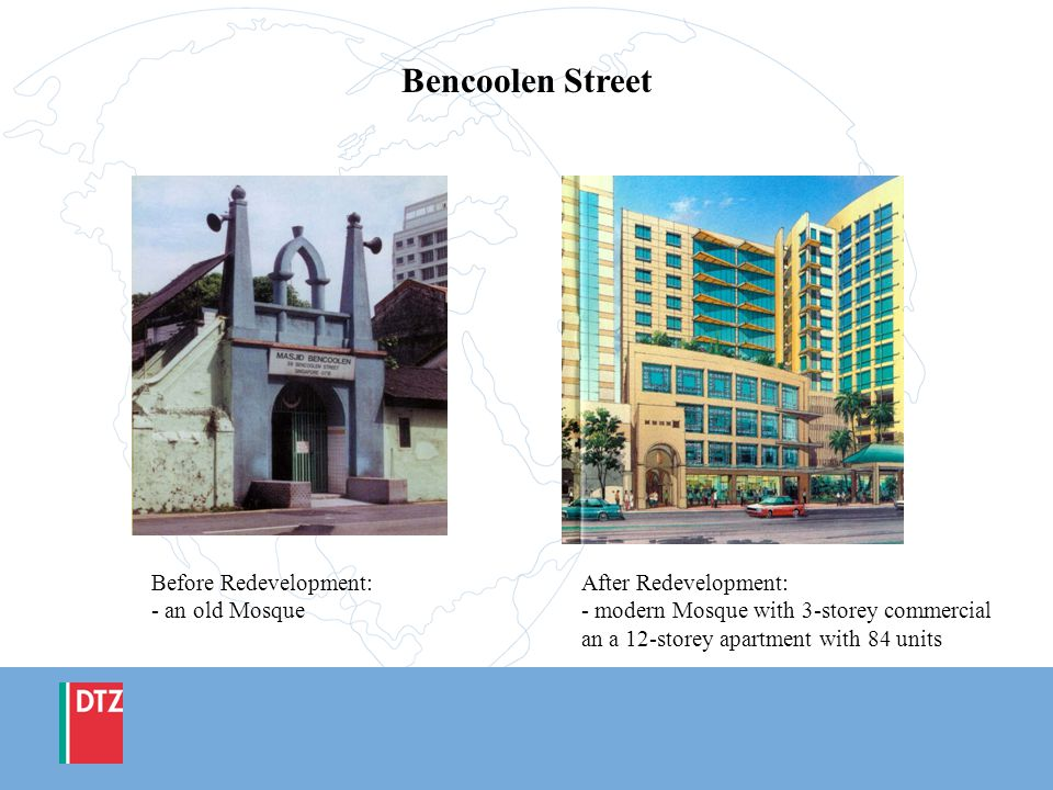 Bencoolen Street Before Redevelopment: - an old Mosque