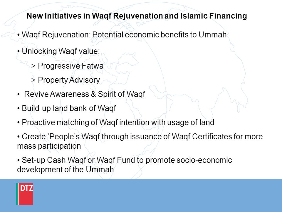 New Initiatives in Waqf Rejuvenation and Islamic Financing