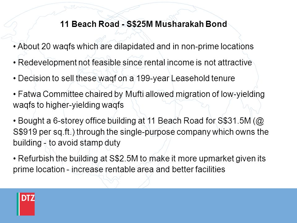 11 Beach Road - S$25M Musharakah Bond