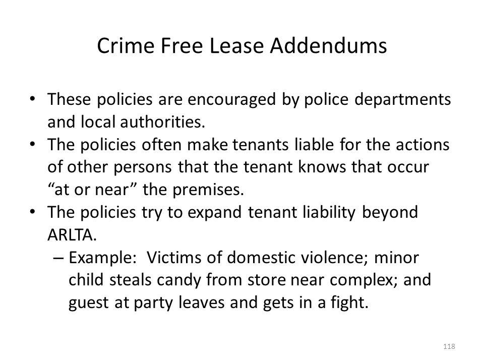 Crime Free Lease Addendums