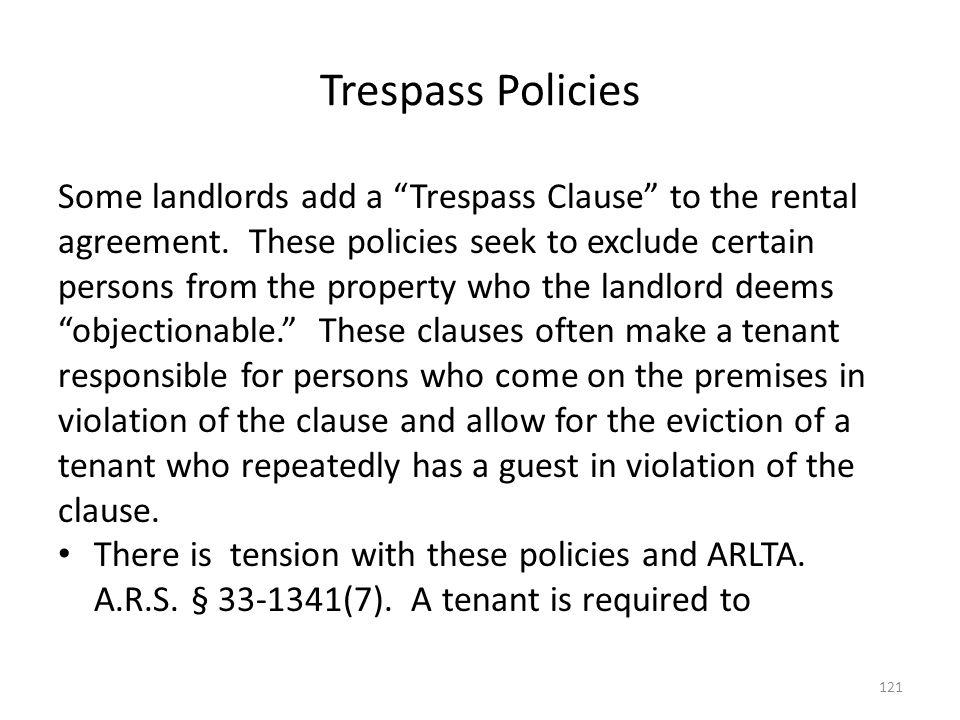 Trespass Policies