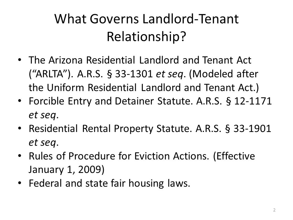 What Governs Landlord-Tenant Relationship