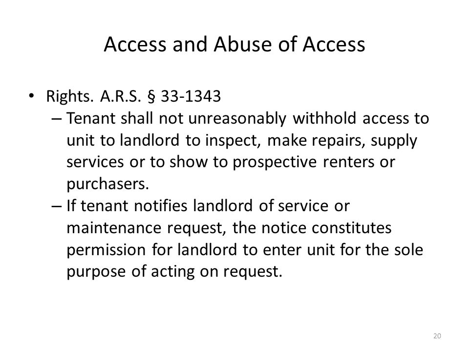 Arizona Landlord and Tenant Law - ppt download