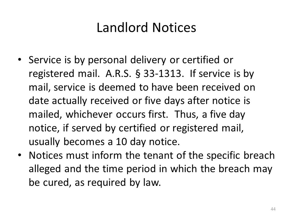 Landlord Notices