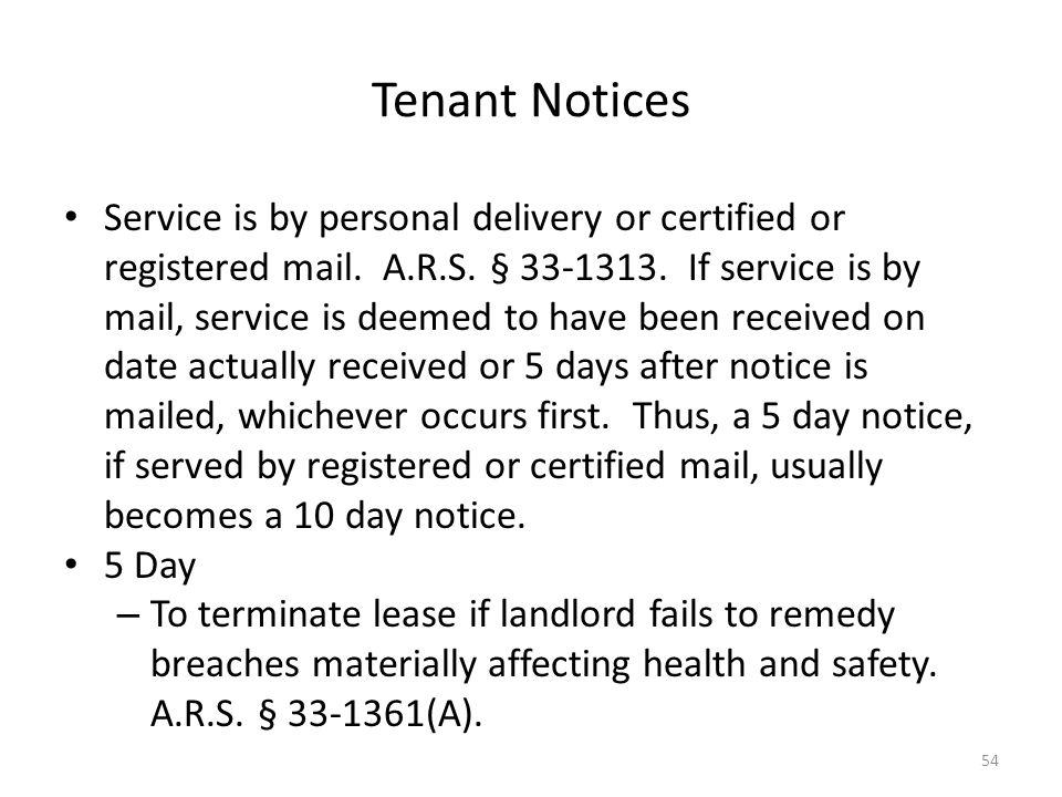 Tenant Notices