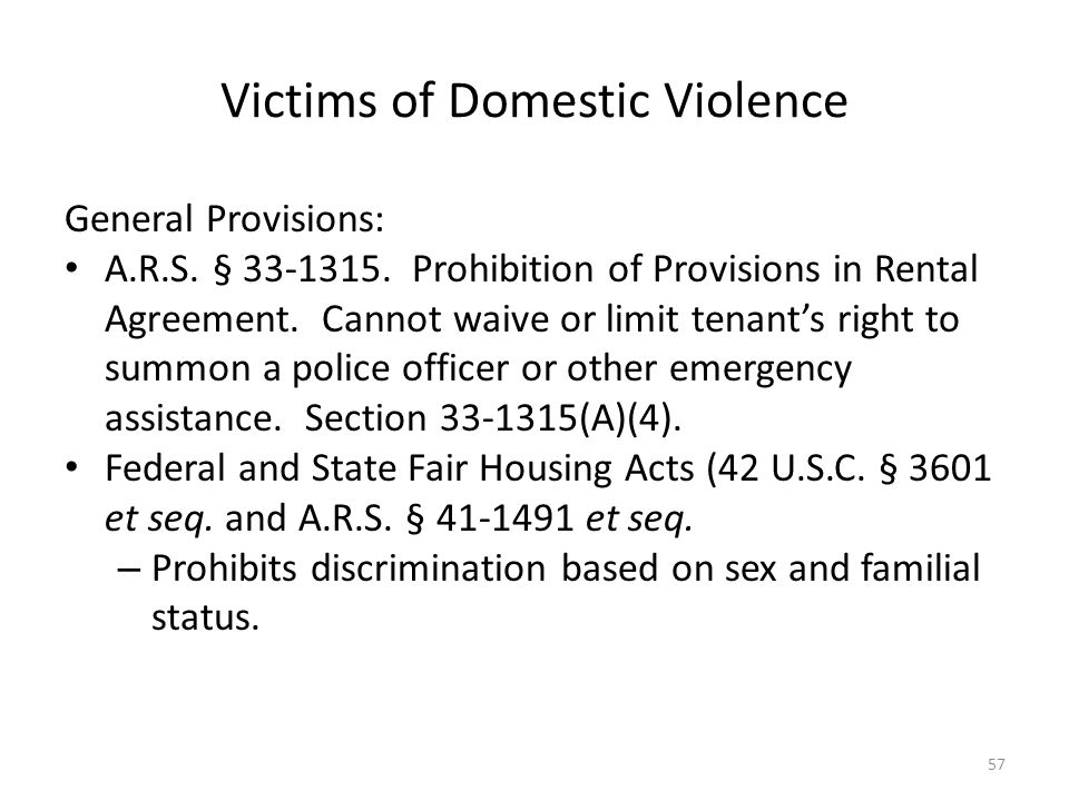 Victims of Domestic Violence