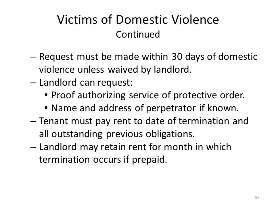 Victims of Domestic Violence Continued