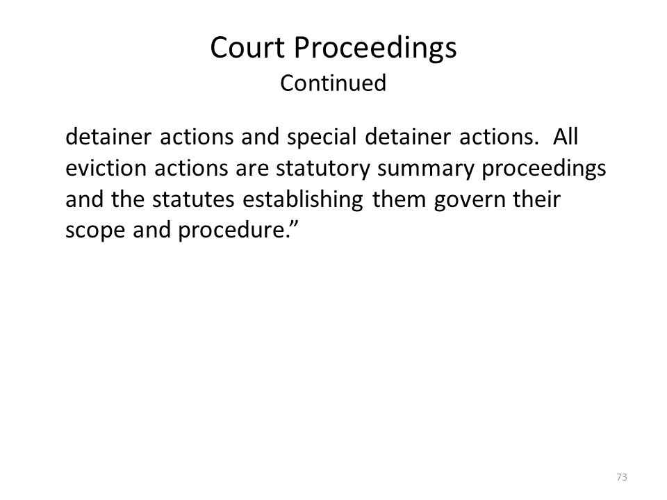 Court Proceedings Continued
