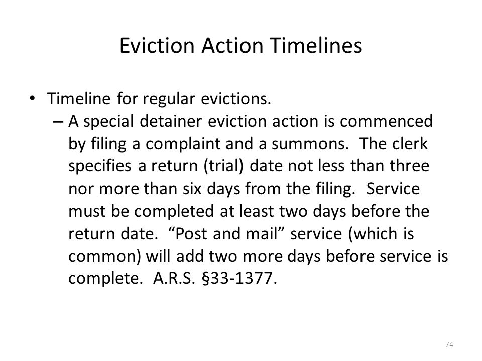 Eviction Action Timelines