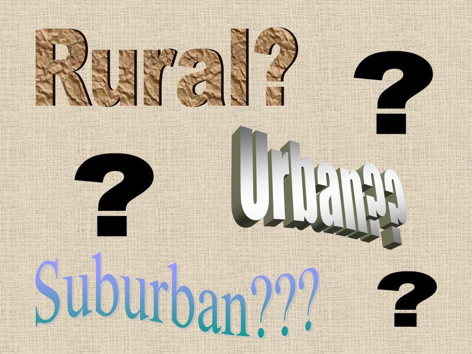 Rural Urban Suburban