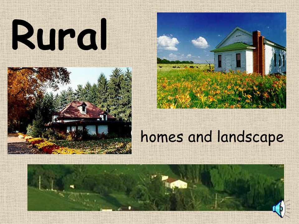 Rural homes and landscape