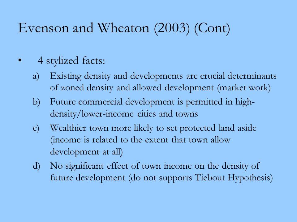 Evenson and Wheaton (2003) (Cont)