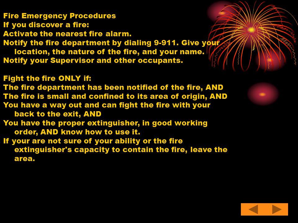 Fire Emergency Procedures