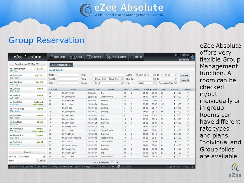 Group Reservation