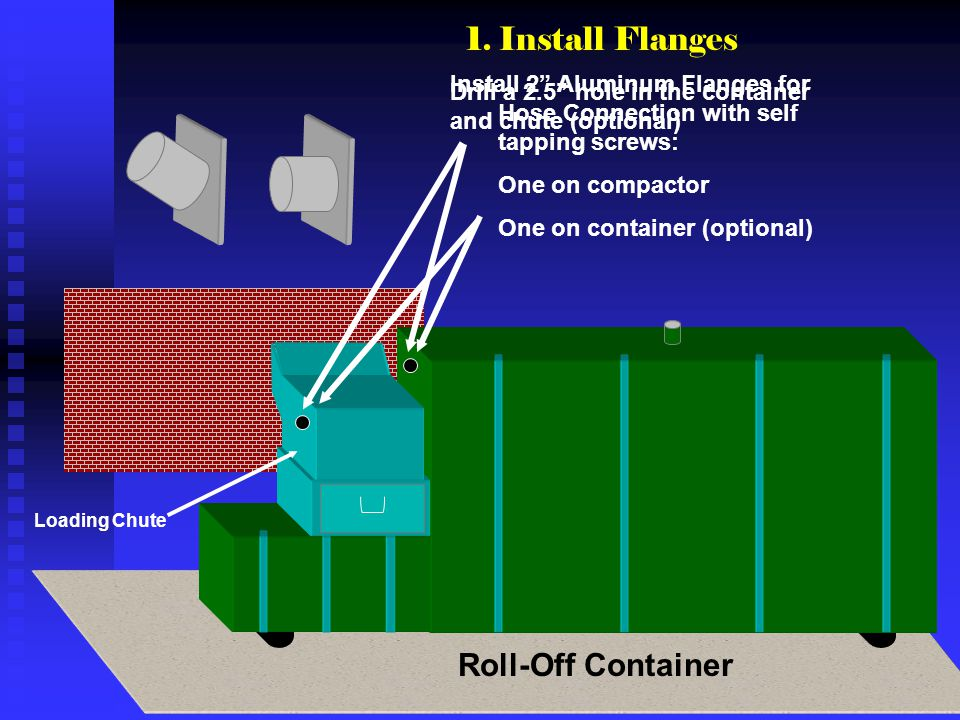 1. Install Flanges Roll-Off Container