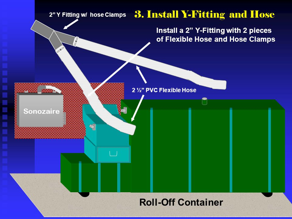 3. Install Y-Fitting and Hose