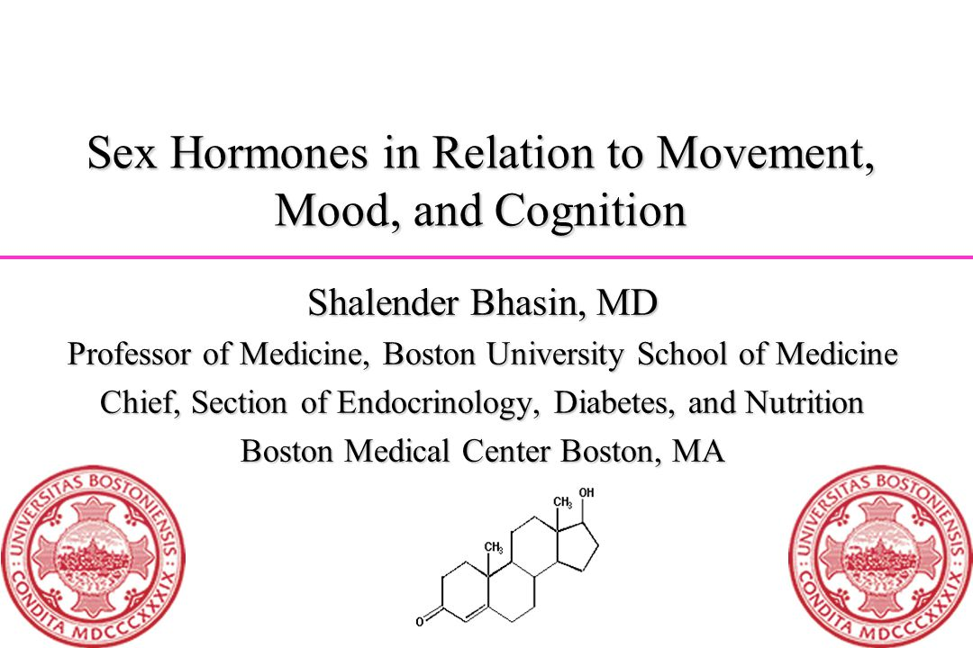 Sex Hormones in Relation to Movement, Mood, and Cognition