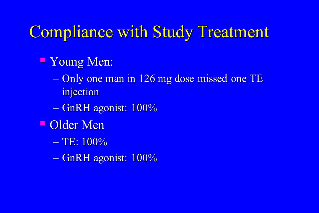 Compliance with Study Treatment