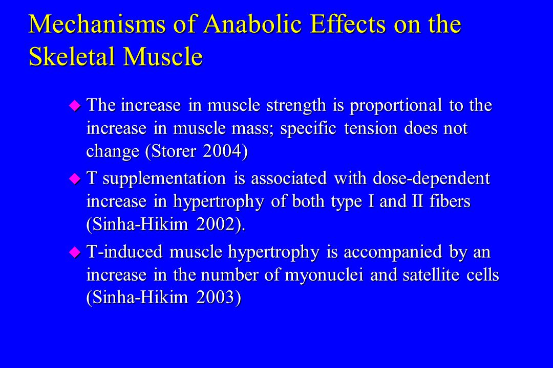 Mechanisms of Anabolic Effects on the Skeletal Muscle