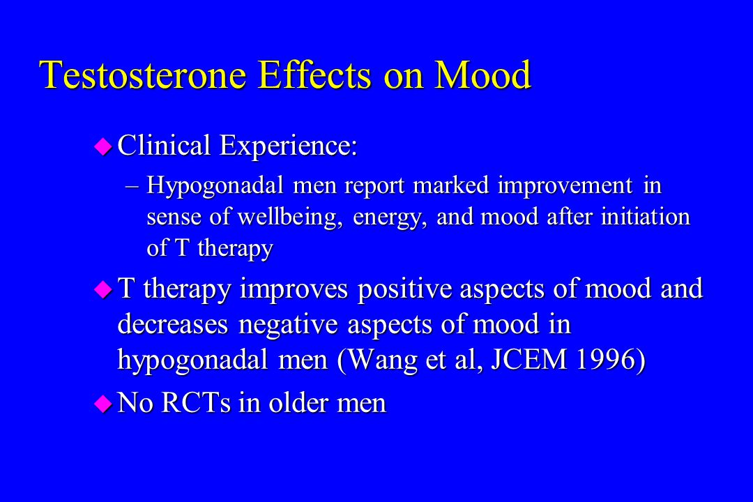Testosterone Effects on Mood