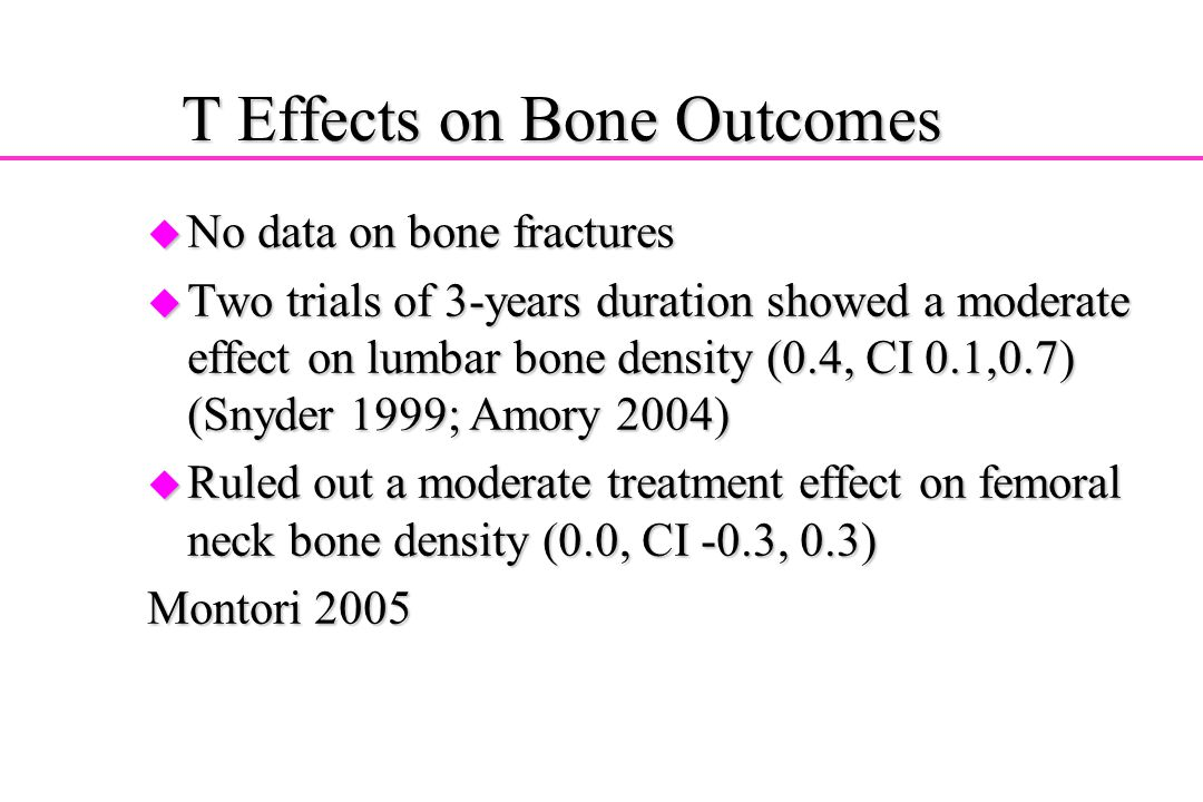 T Effects on Bone Outcomes