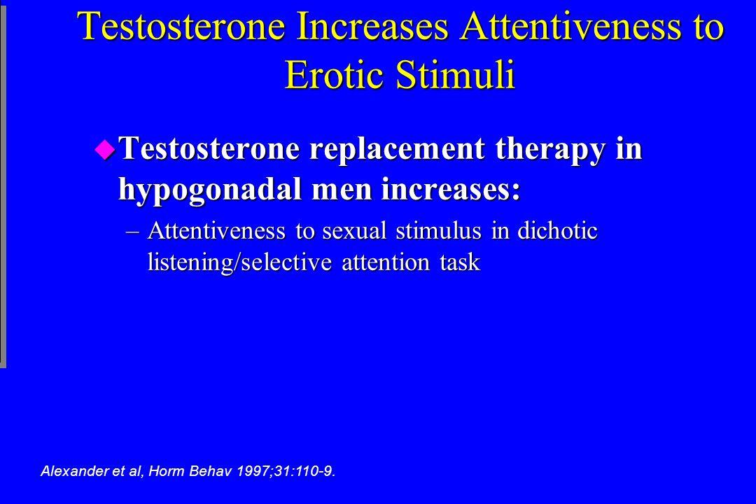 Testosterone Increases Attentiveness to Erotic Stimuli