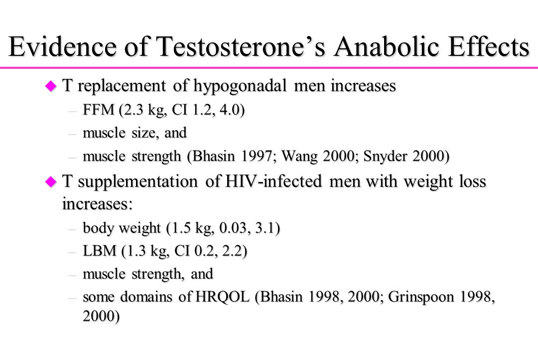 Evidence of Testosterone's Anabolic Effects