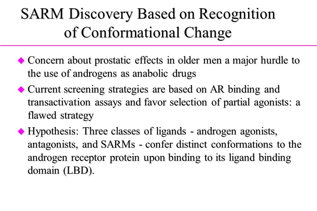 SARM Discovery Based on Recognition of Conformational Change