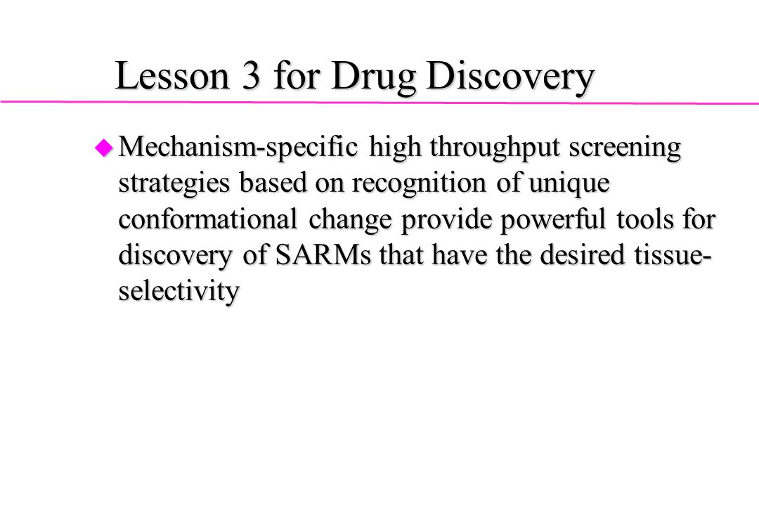 Lesson 3 for Drug Discovery