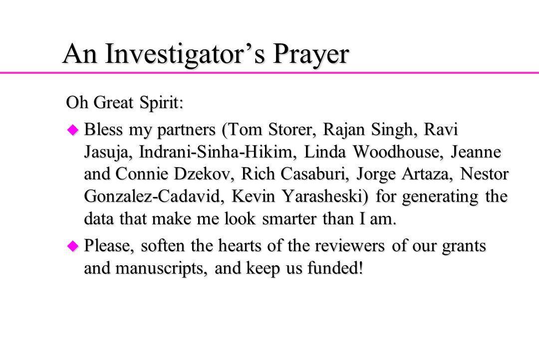 An Investigator's Prayer