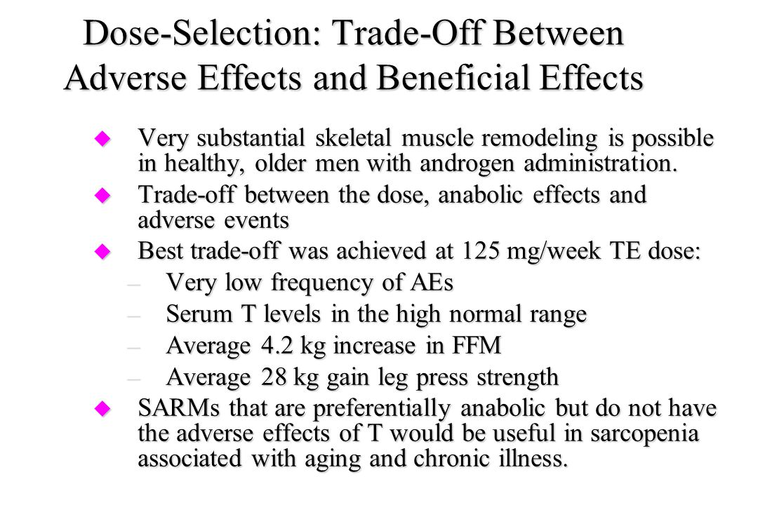 Dose-Selection: Trade-Off Between Adverse Effects and Beneficial Effects