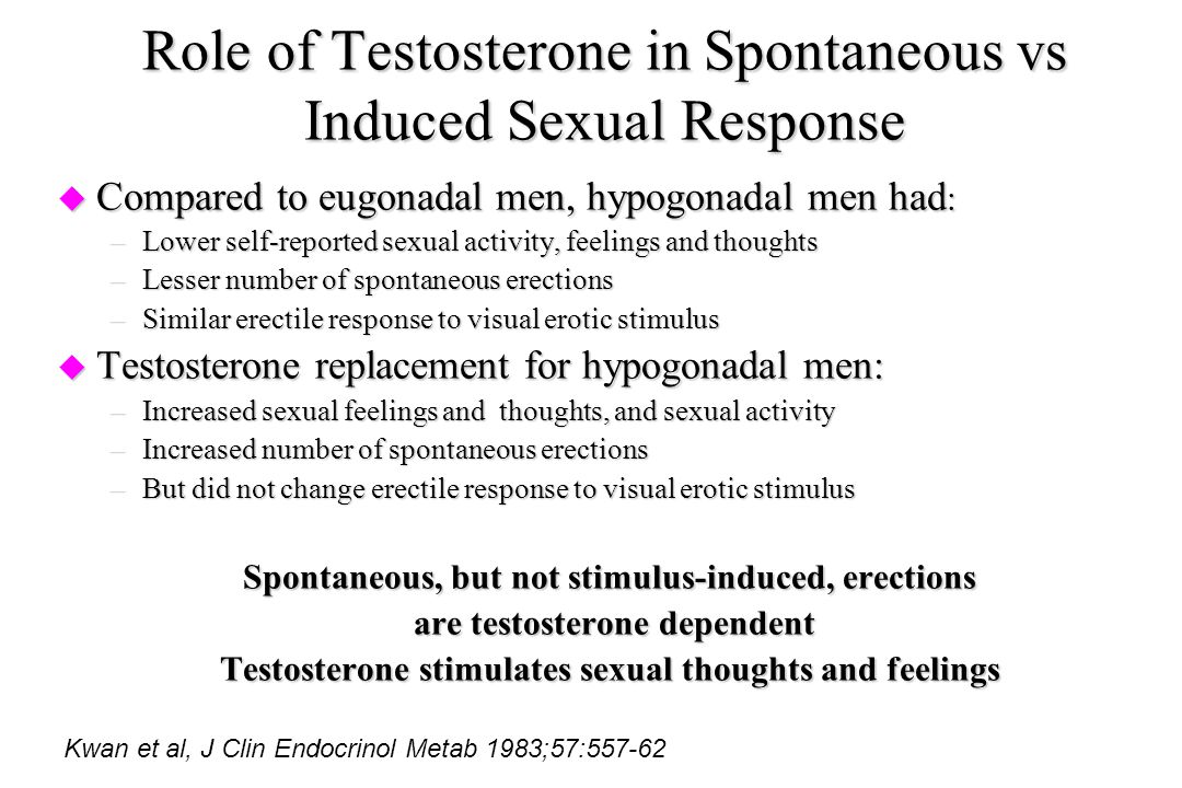 Role of Testosterone in Spontaneous vs Induced Sexual Response