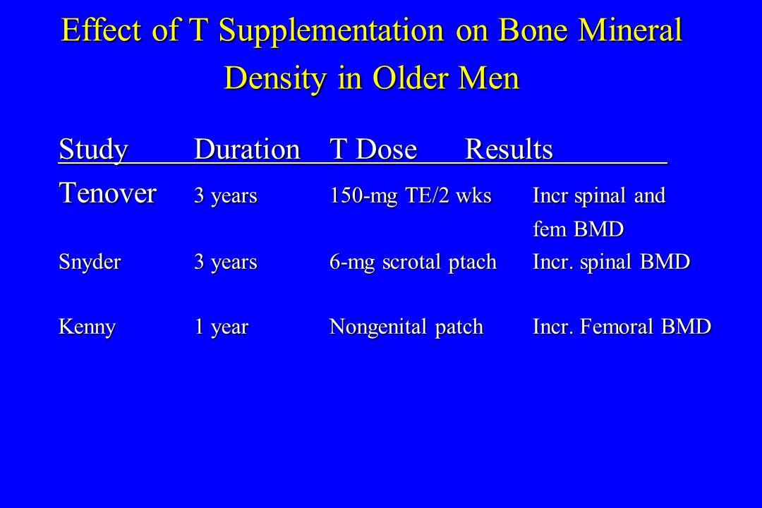 Effect of T Supplementation on Bone Mineral Density in Older Men