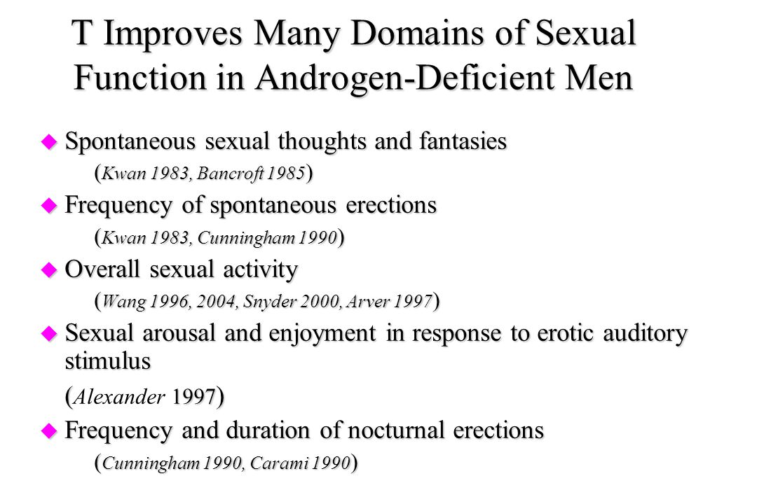 T Improves Many Domains of Sexual Function in Androgen-Deficient Men