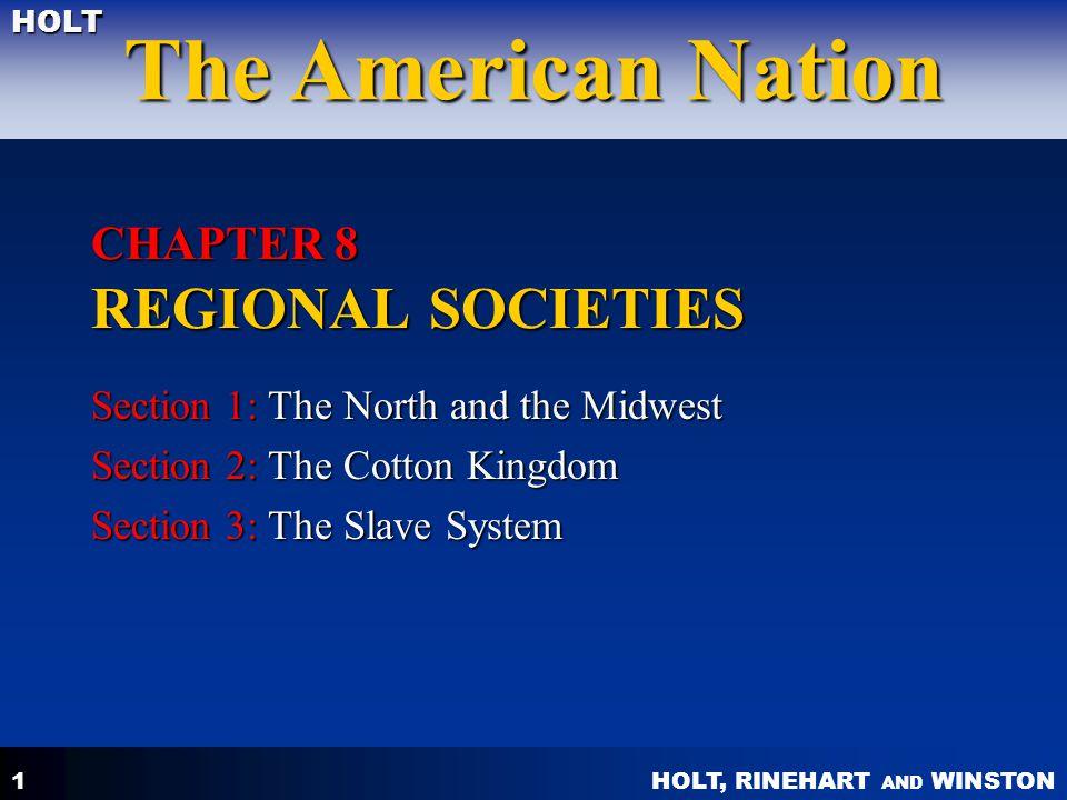 CHAPTER 8 REGIONAL SOCIETIES