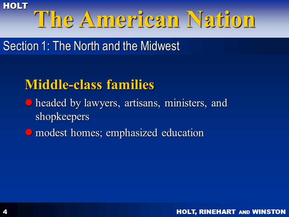 Middle-class families