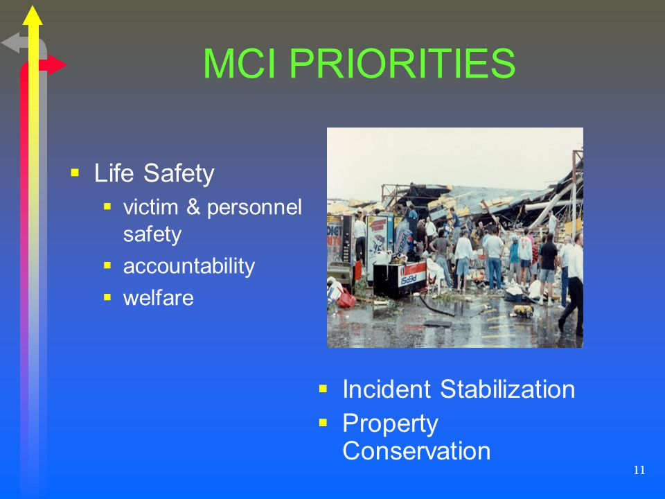 MCI PRIORITIES Life Safety Incident Stabilization
