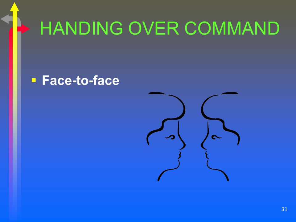 HANDING OVER COMMAND Face-to-face