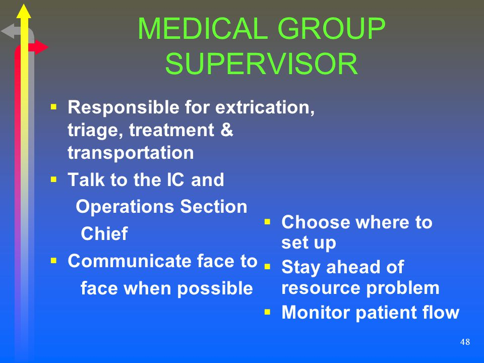 MEDICAL GROUP SUPERVISOR