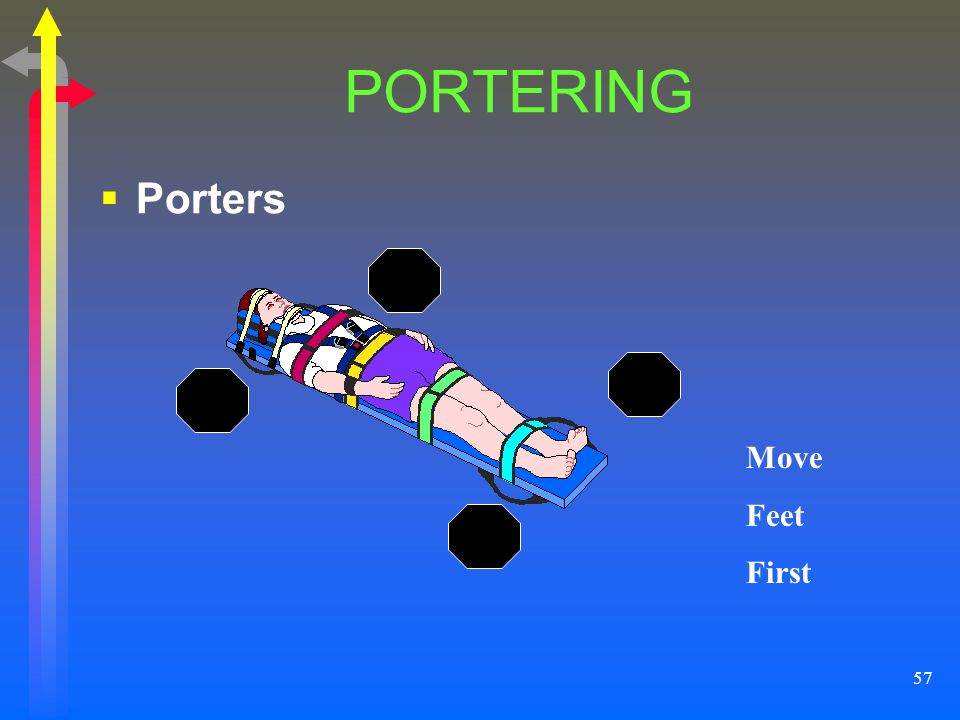 PORTERING Porters Move Feet First