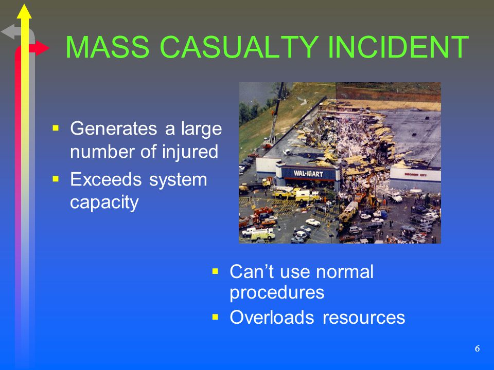 MASS CASUALTY INCIDENT