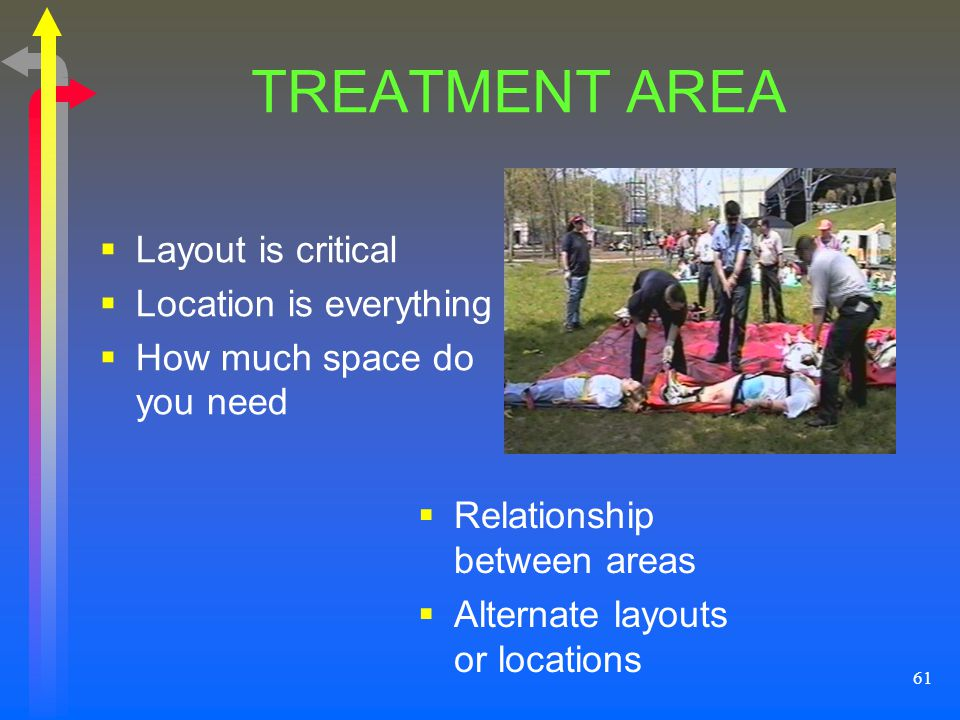TREATMENT AREA Layout is critical Location is everything