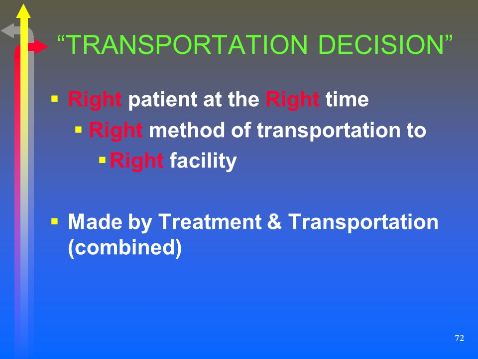 TRANSPORTATION DECISION