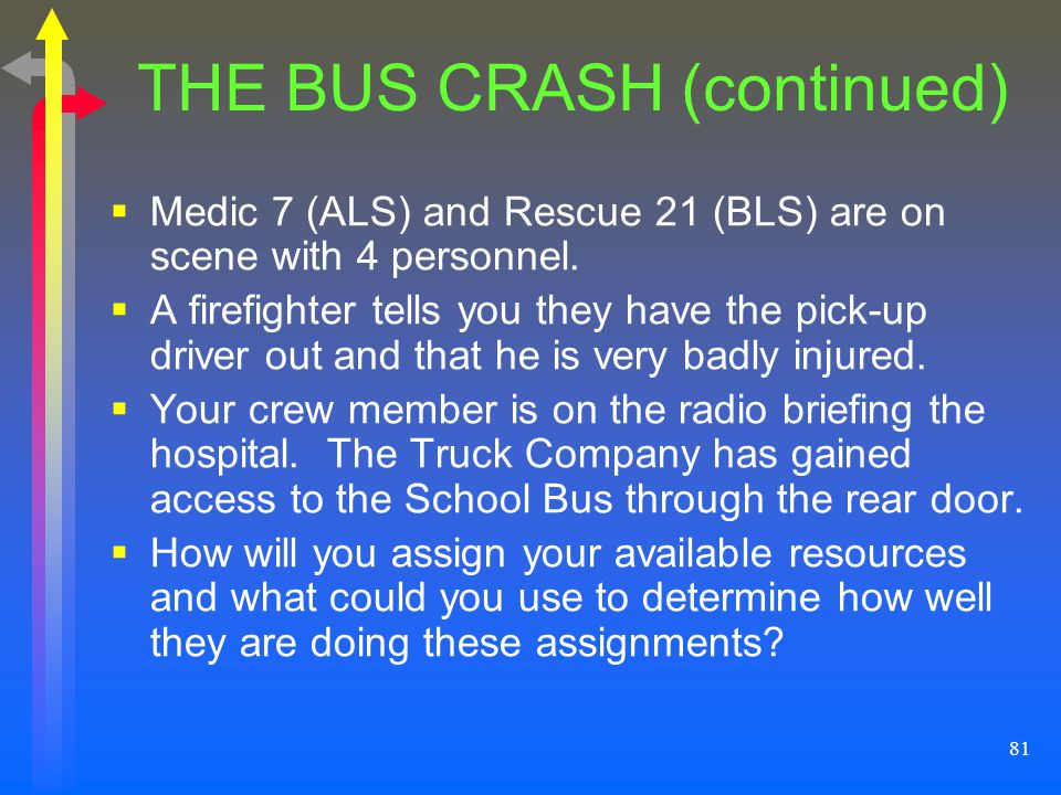 THE BUS CRASH (continued)