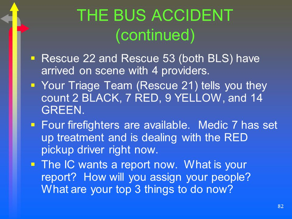 THE BUS ACCIDENT (continued)