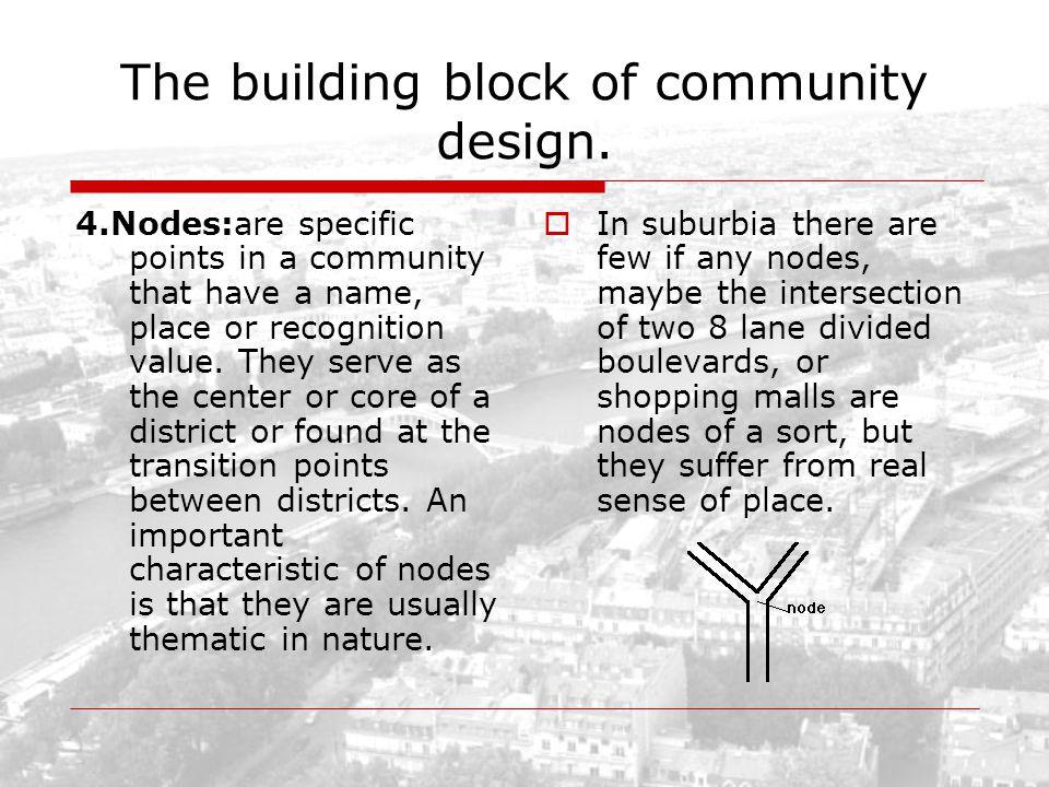 The building block of community design.